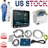 "CE New 12"" ICU Vital Sign Patient Monitor 6 parameter ECG NIBP RESP TEMP SPO2 PR"