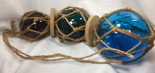 Hand-Blown Glass Balls Fishing Float with Rope Net