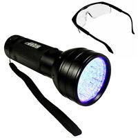 HQRP 51-LED UV 395nm Ultra Violet Blacklight UV Lampe Torche Léger + Lunettes