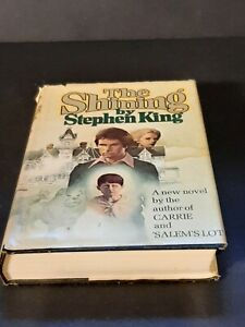 Vintage Book The Shining Stephen King Doubleday 1977 Hardcover Book Club 1st Ed