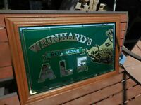 Vintage Large Weinhard's Blue Boar Ale Mirrored Sign-Beer Advertising Sign