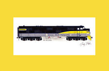 """Pere Marquette E7 11""""x17"""" Matted Print Andy Fletcher signed"""