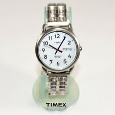 Date 30M Water Resistance New Battery Timex Indiglow J7 Quartz Steel Watch Day