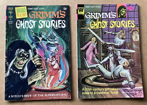 GRIMM'S GHOST STORIES #1 & 21 (1972 & 1974) Gold Key/Whitman; Low Grade