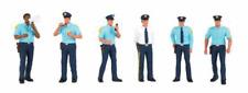 Spur 0 - Bachmann Figuren 6 Polizisten -- 33154 NEU