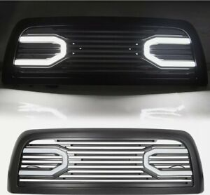 For 10-18 Dodge Ram 2500 3500 Big Horn Black Grille & Replacement Shell & Lights