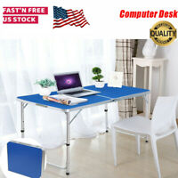 USA Folding Computer Desk PC Laptop Workstation Home Office Writing Study Table
