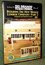 "20026 MODEL RAILROAD VIDEO DVD ""BUILDING THE RGS #6"" NEW MEXICO LUMBER"