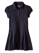 Nwt Nautica Girls' Short Sleeve Polo Dress, Navy, Size Xl (16), $19.99