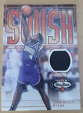 2002-03 Fleer Box Score Dish and Swish Memorabilia #DSM10 Chris WEBBER