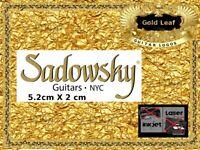 Sadowsky Guitar Headstock Decal Restoration Waterslide 150g