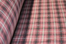 Red Flannel Plaid 100% Cotton Yarn Dyed Fabric 57