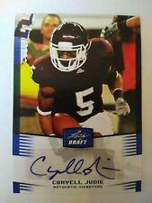 2012 Leaf Draft Coryell Judie Texas A&M Denver Broncos - Auto Blue