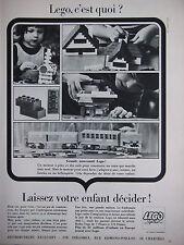 PUBLICITÉ DE PRESSE 1966 LEGO SYSTEM LAISSEZ VOTRE ENFANT DÉCIDER - ADVERTISING