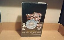 NFL Football Pro Set Platinum Series I 1991 Sealed Factory Wax Pack Box 36 Packs