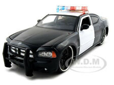2006 DODGE CHARGER R/T UNMARKED POLICE CAR 1:24 BLK/WHT BY JADA 91984