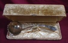 """Louvre by Wood & Hughes Sterling Silver Soup Ladle 12"""" Original Fitted Box Gw"""