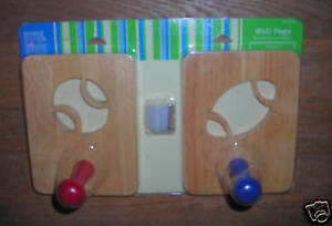 RESTORE and RESTYLE   child   football wall pegs   light brown   4x6 inch    NEW