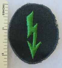 ORIGINAL WW2 Vintage GERMAN ARMY PANZER GRENADIER SIGNAL PATCH on LIGHT TWILL