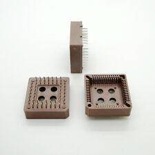 10x PLCC52 52 Pin 52Pin DIP IC Socket Adapter PLCC Converter Brown