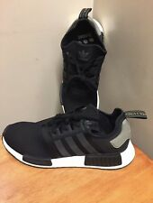 "Adidas NMD R1 Core Black/Trace Cargo Men's BA7251 SZ 10.5 RARE ""Pre Owned"""