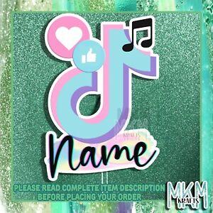 TikTok Birthday Cake Topper * Card *Personalised * Pastel * dance * music * app
