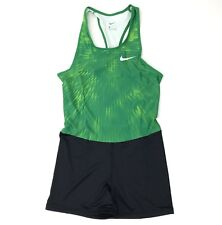 New Nike Digital Track Race Day Unitard Running Singlet Women's M Green 835985