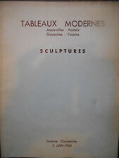 Catalogue Galerie Charpentier 1954 Tableaux modernes aquarelles pastels gouaches