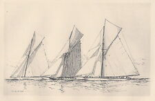 "Illustration from ""The Lawson History of America's Cup"":Three Unsuccessful ..."