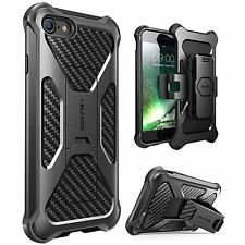 iPhone 7 PLUS Case, i-Blason Transformer [Kickstand] Holster Belt Clip BLACK