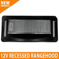 NEW Recessed 12v Caravan Rangehood Touch Control LED LCD Display RV Motorhome