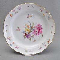 Meissen Blumen und Insekten, große runde Platte, Knaufzeit, 1.Wahl, 30,5 cm