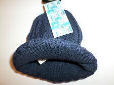 Nuovo M&S bimbo bambini Blu scuro a maglia intrecciata CAPPELLO