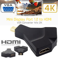 Nuevo Mini DP Display Port A Hdmi Vga Dvi Convertidor para Microsoft Surface Pro 3D