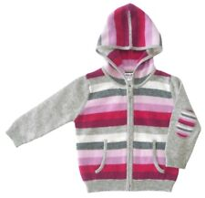 Gia John Cashmere Girls Cashmere Stripped Hoodie sizes: 6M- 6Y old