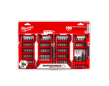 Milwaukee Impact Duty Driver Bit Set 100 Piece Power Tool Drilling Drill Bits