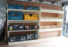 Renault Trafic LWB 2015+ LIGHTWEIGHT Racking Shelving OS Angled Front and Rear
