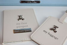 Mi primera Porta Pasaporte Personalizado & Etiqueta del equipaje