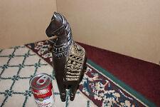 Superb Chinese Japanese Carved Wood Horse W/Gilded Gold Saddle-Asian Horse
