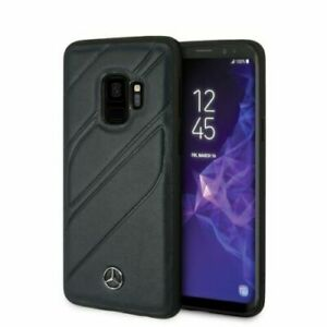 Mercedes-Benz Hülle Organic Genuine Leather Samsung Galaxy S9 Case Cover Navy