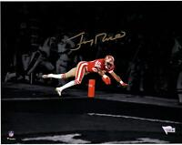 "Jerry Rice San Francisco 49ers Signed 11"" x 14"" Diving Touchdown Spotlight Photo"
