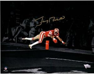 """Jerry Rice San Francisco 49ers Signed 11"""" x 14"""" Diving Touchdown Spotlight Photo"""