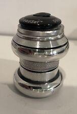 Chris King NoThreadSet • 1 1/8 • Headset • Polished Silver • Black Top Cap