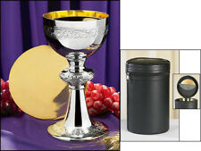 Ornamented Chalice and Paten Set with Holding Case