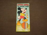 VINTAGE WALT DISNEY MICKEY MOUSE SUNSHINE STRAWS IN BOX