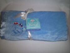 New BABY CONNECTION Plush TE AMO PAPA BLANKET Blue Cars Walmart Lovey Satin