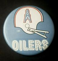 Vintage 1980's HOUSTON OILERS Button Pin Helmet Collectible