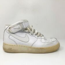 Nike Mens Air Force 1 Mid 07 315123-111 White Basketball Shoes Lace Up Size 9.5