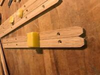 STAG MINSTREL ENGLISH OAK DRAWER RUNNER set with FREE beeswax !
