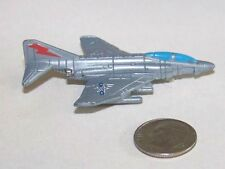 Small Micro Machine USN F-4 Phantom II Jet Fighter Aircraft (bare metal color)